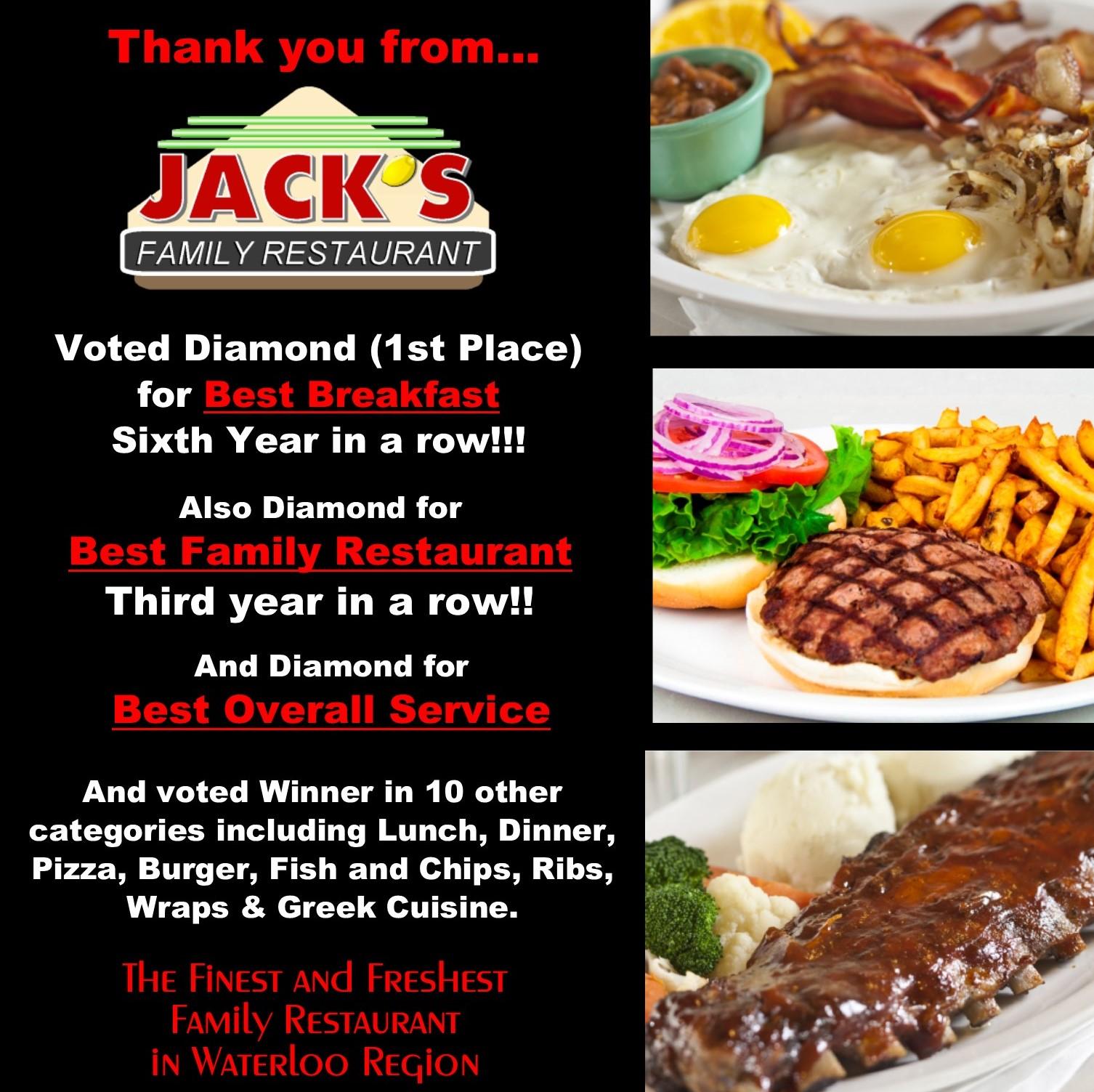 Winner of many 2019 awards. Best Breakfast, Best Family Restaurant, Best overall service and 10 more.
