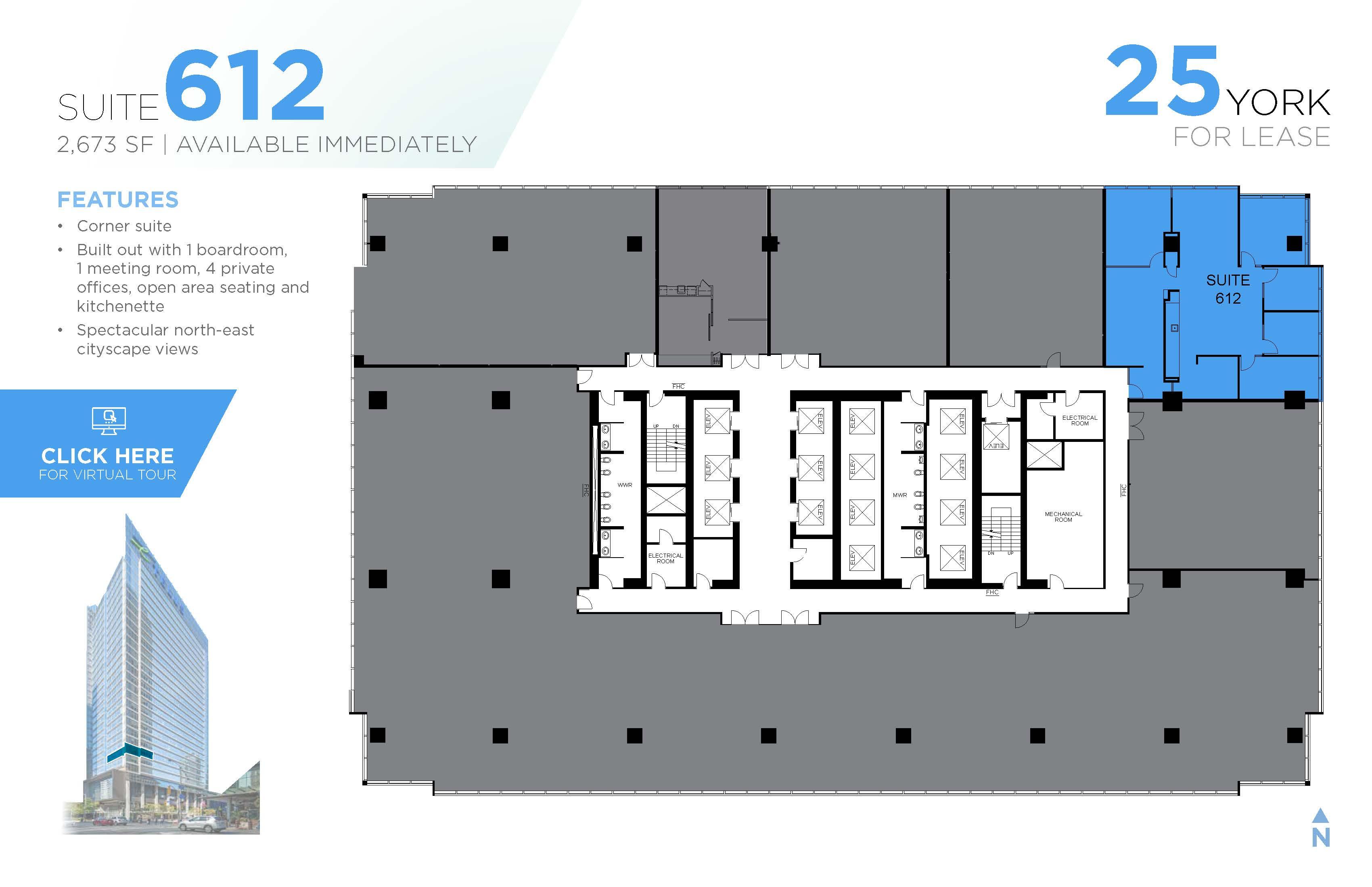 Floorplan thumbnail of Suite 612