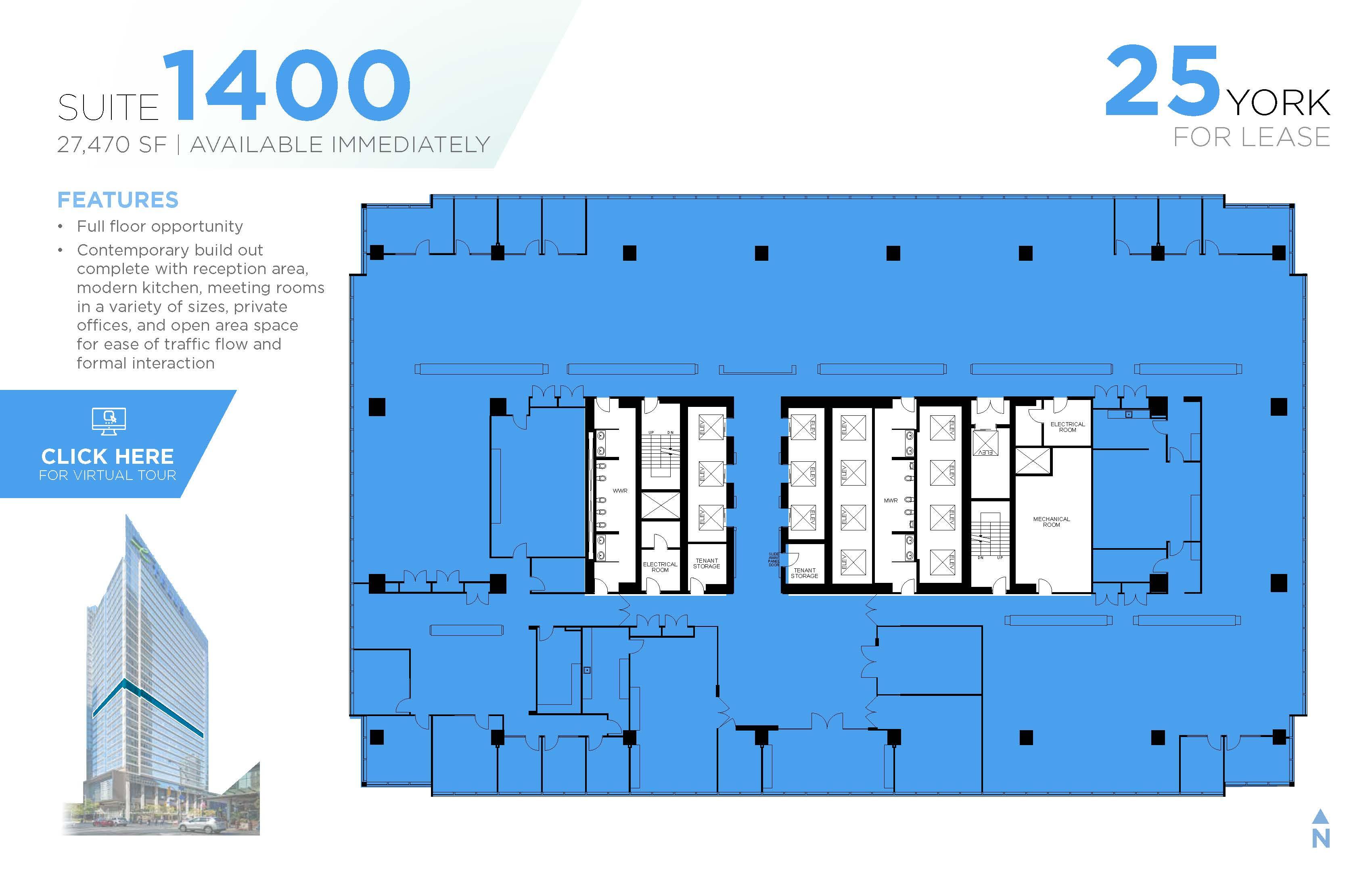 Floorplan thumbnail of Suite 1400