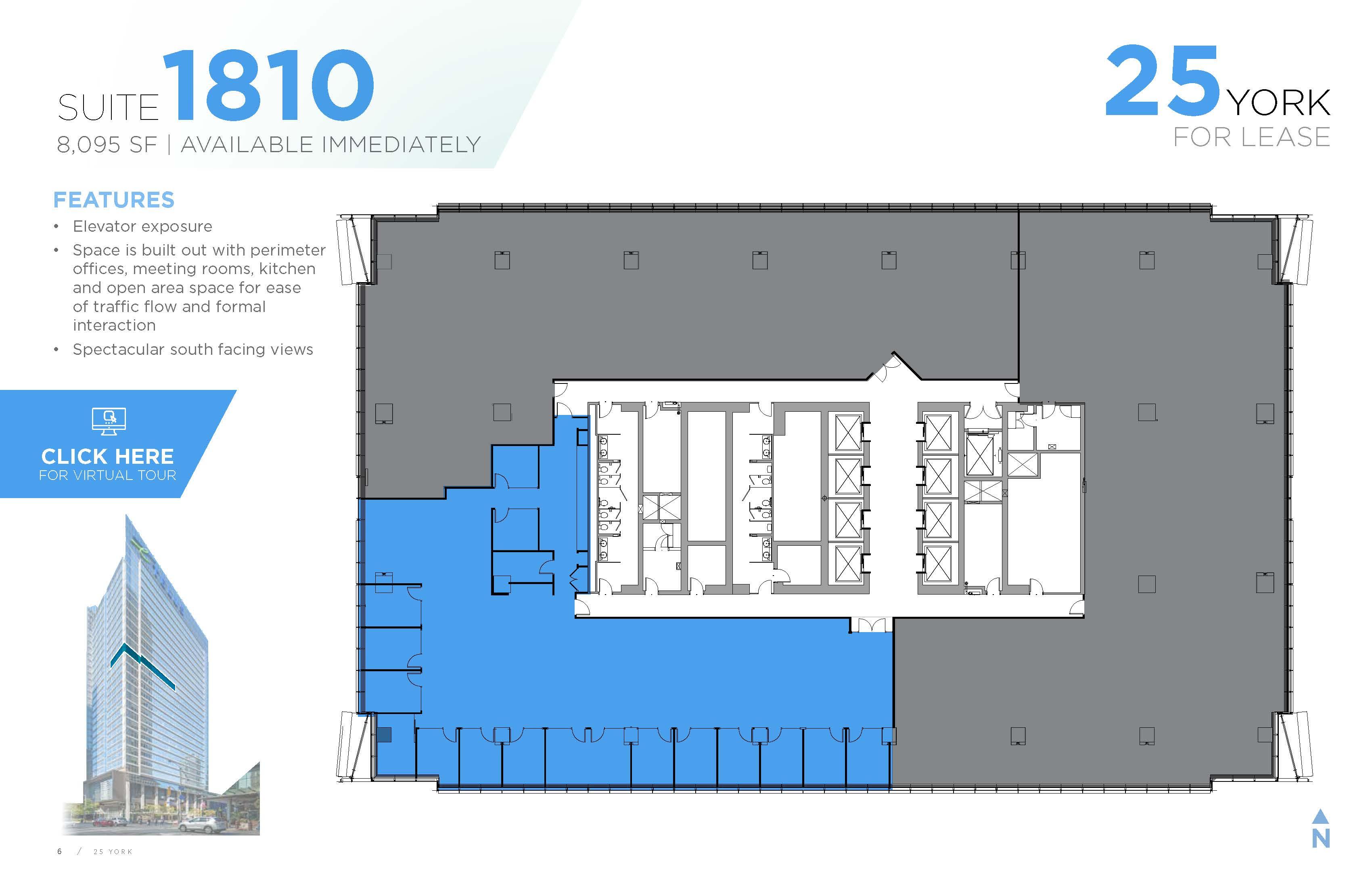 Floorplan thumbnail of Suite 1810