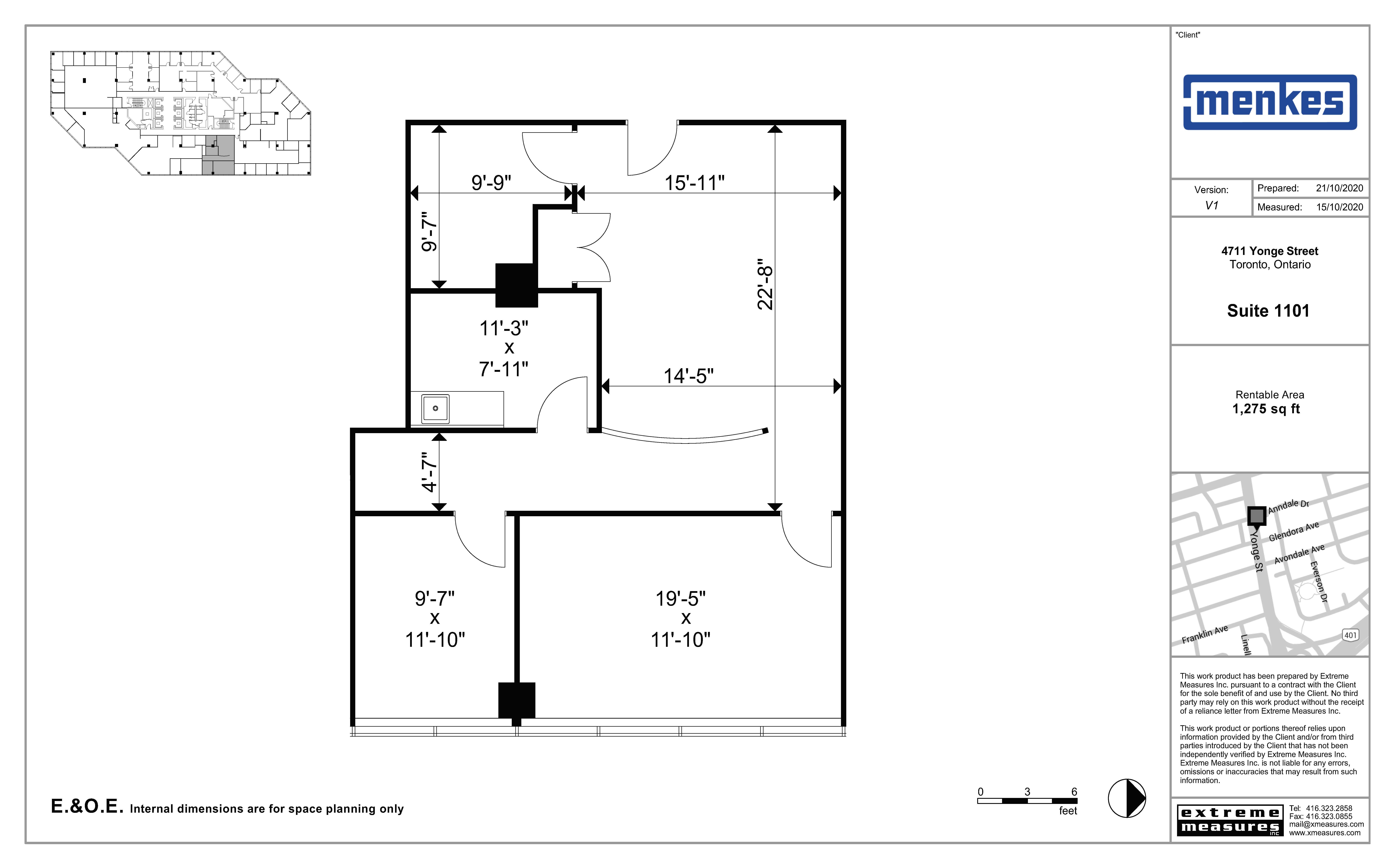 Floorplan thumbnail of Suite 1101