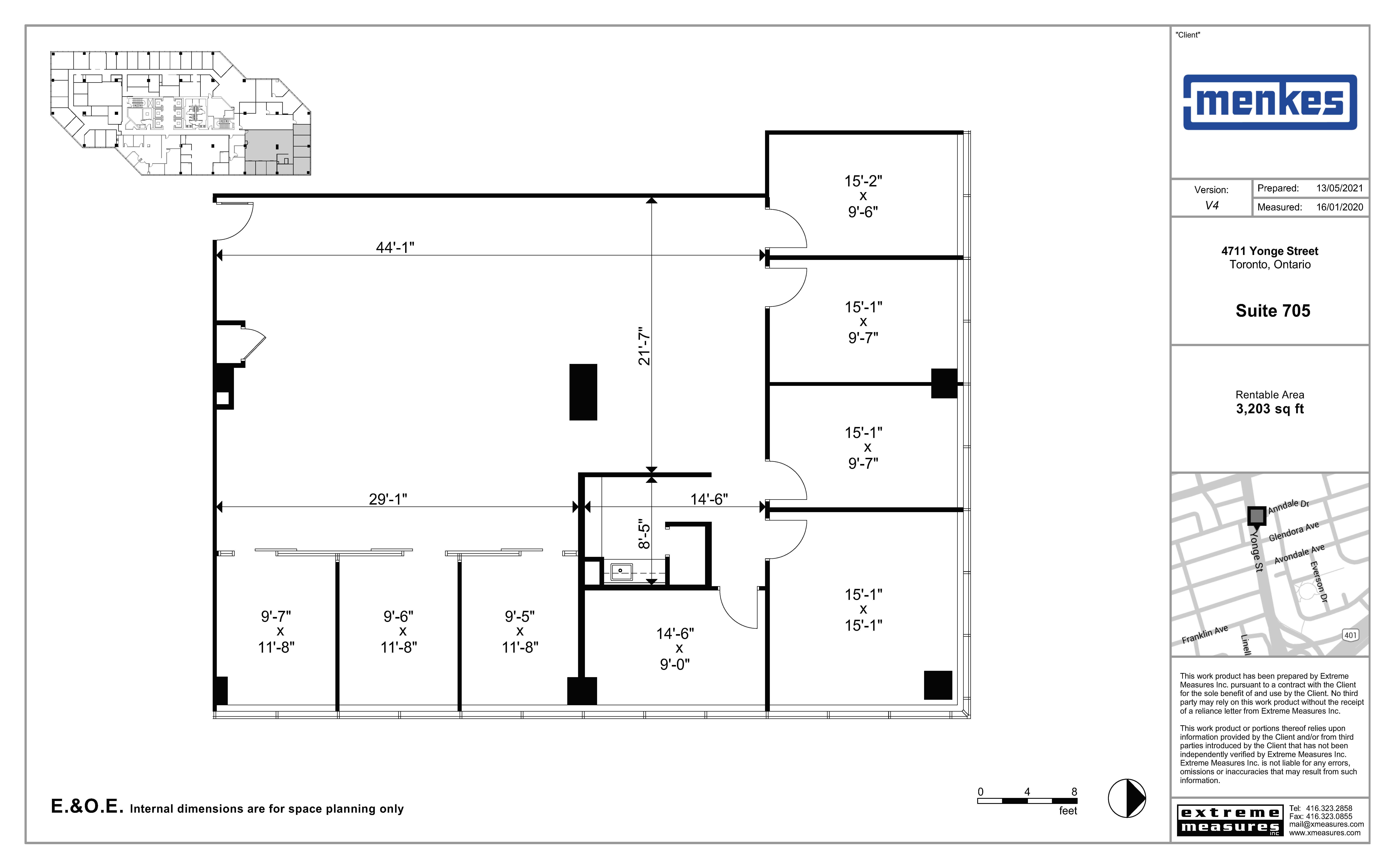 Floorplan thumbnail of suite 705