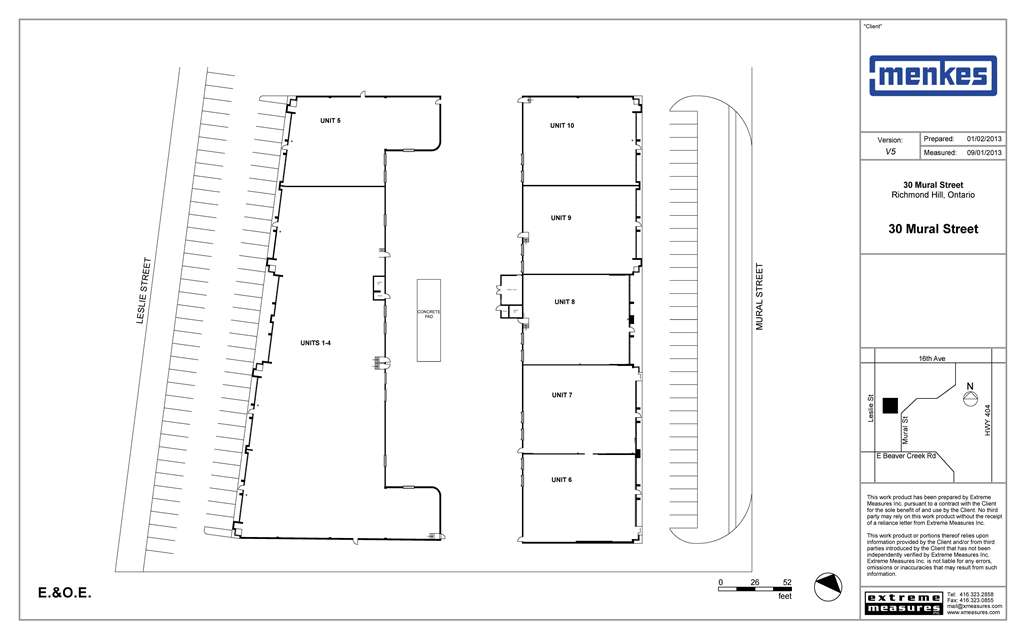 30 Mural Street Site Plan