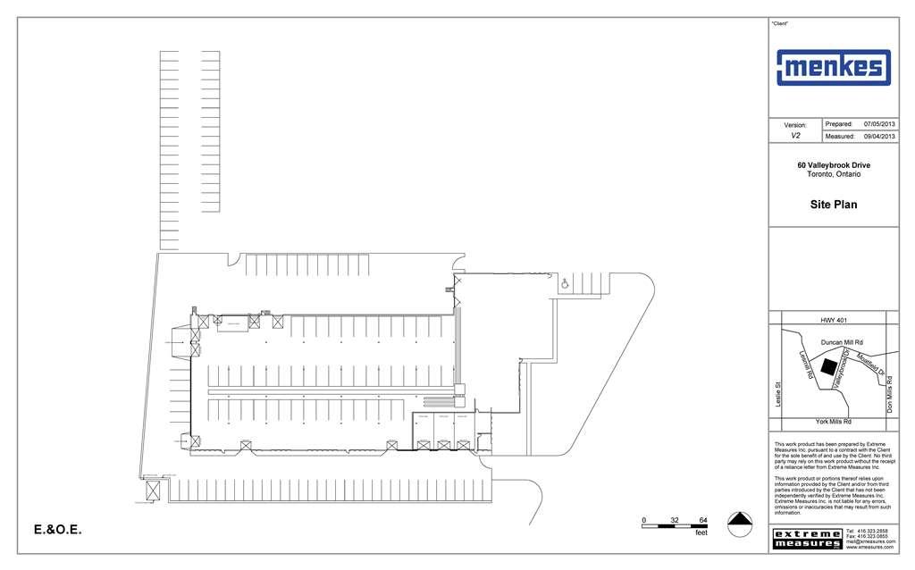 60 Valleybrook Drive Site Plan