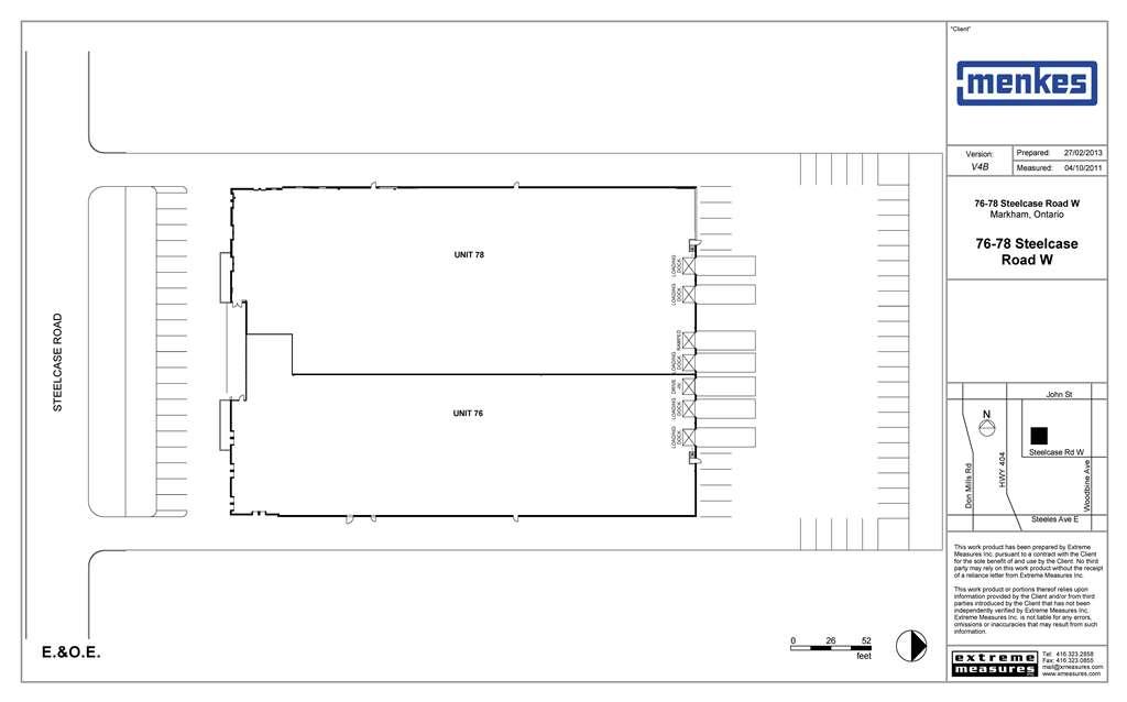 76-78 Steelcase Road W Site Plan