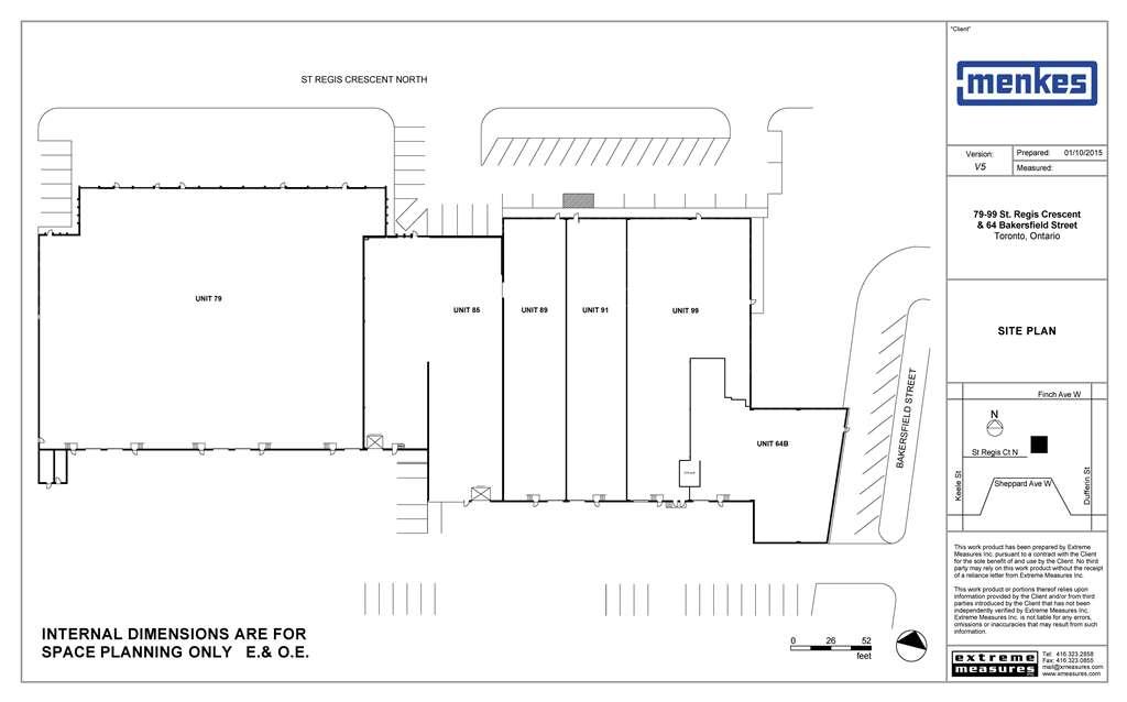 79-99 St. Regis Crescent N / 64 Bakersfield St. Site Plan