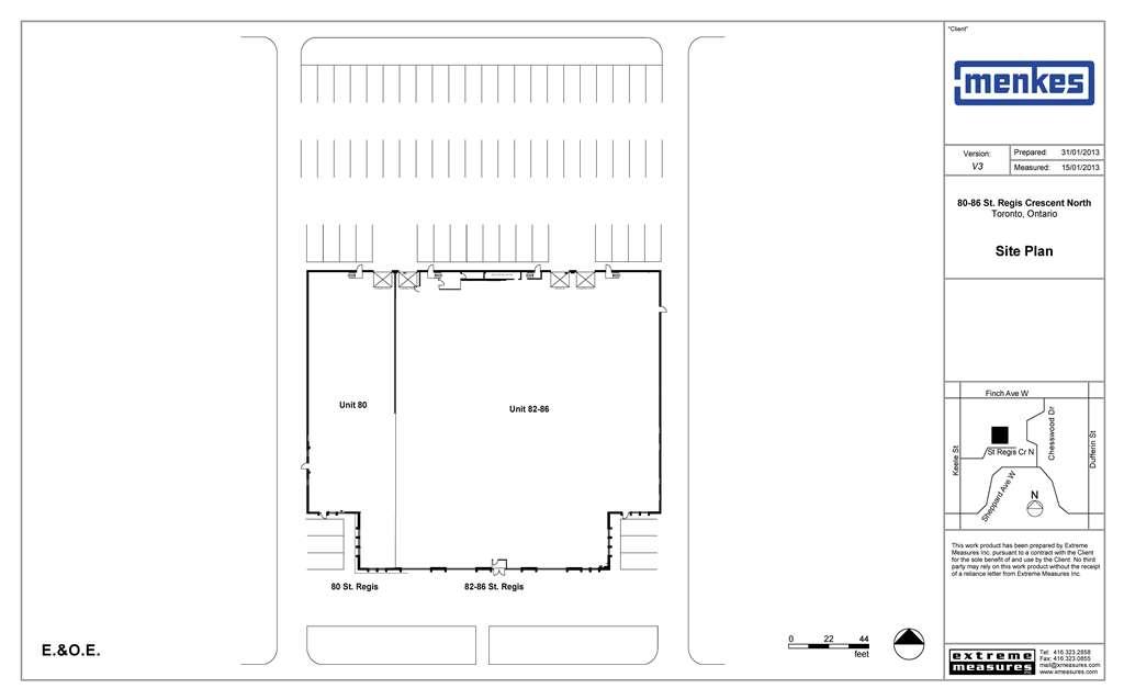80-86 St. Regis Cres. N Site Plan