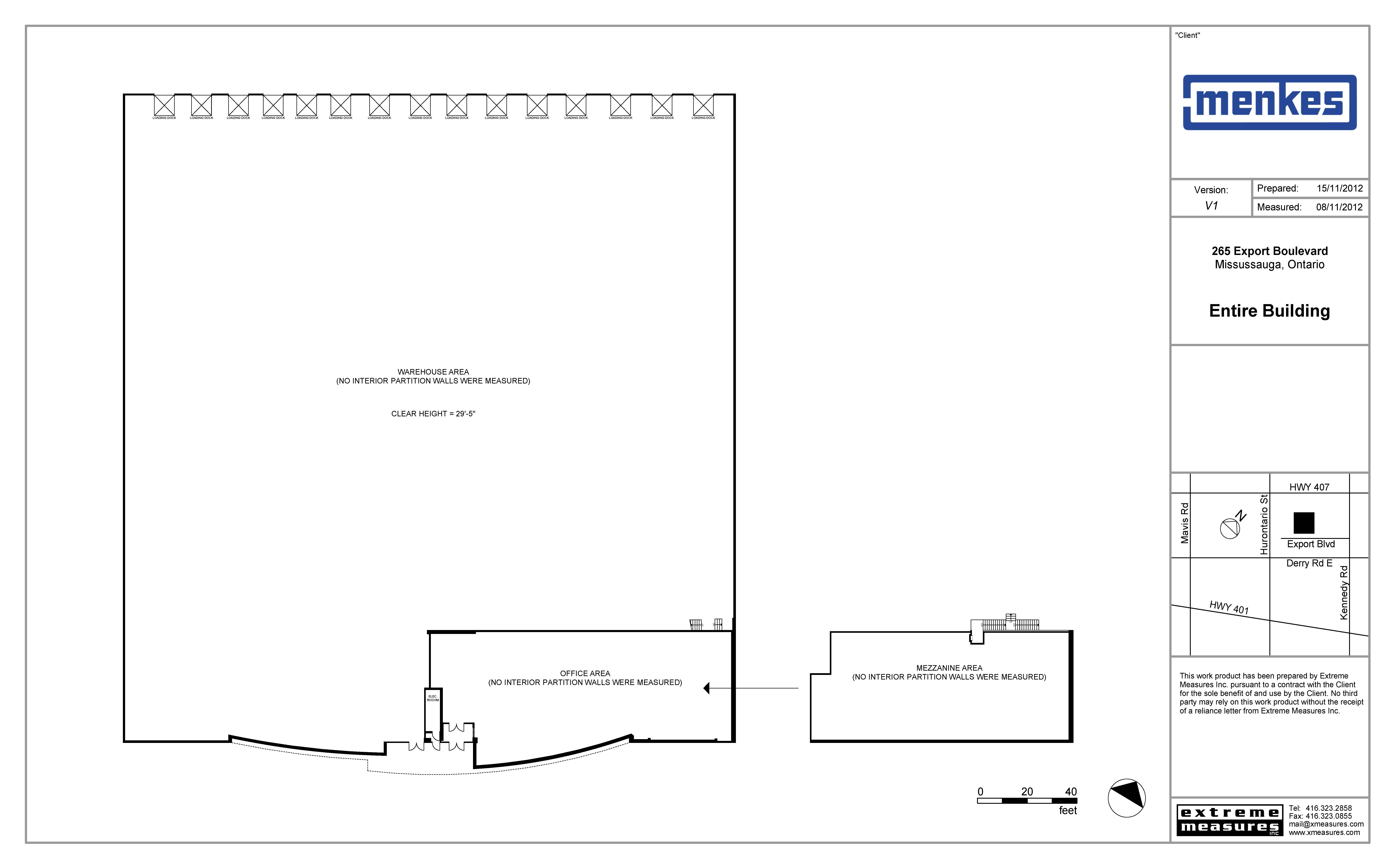 265 Export Boulevard Site Plan