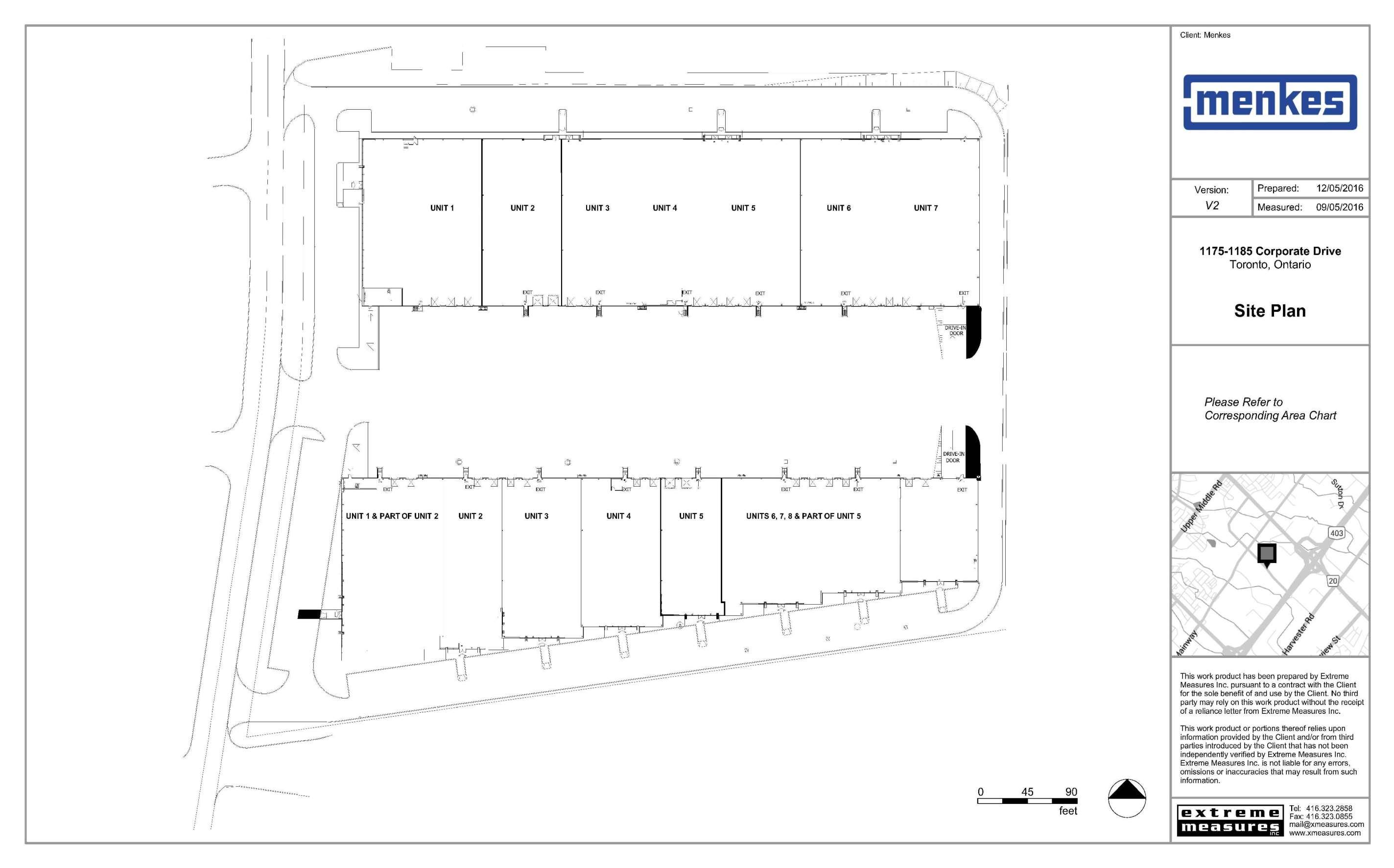 1175 & 1185 Corporate Drive Site Plan