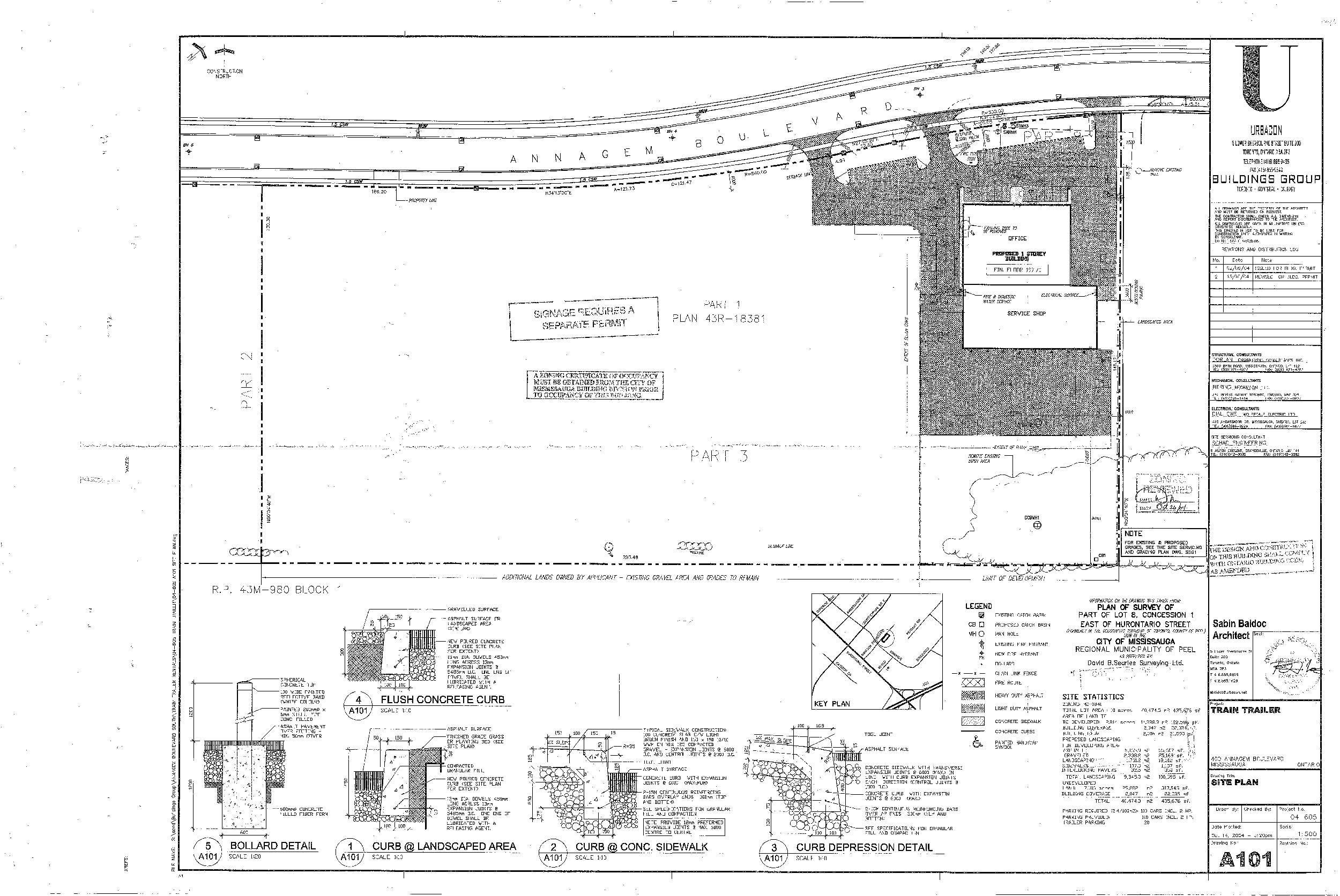 400 Annagem Blvd. Site Plan