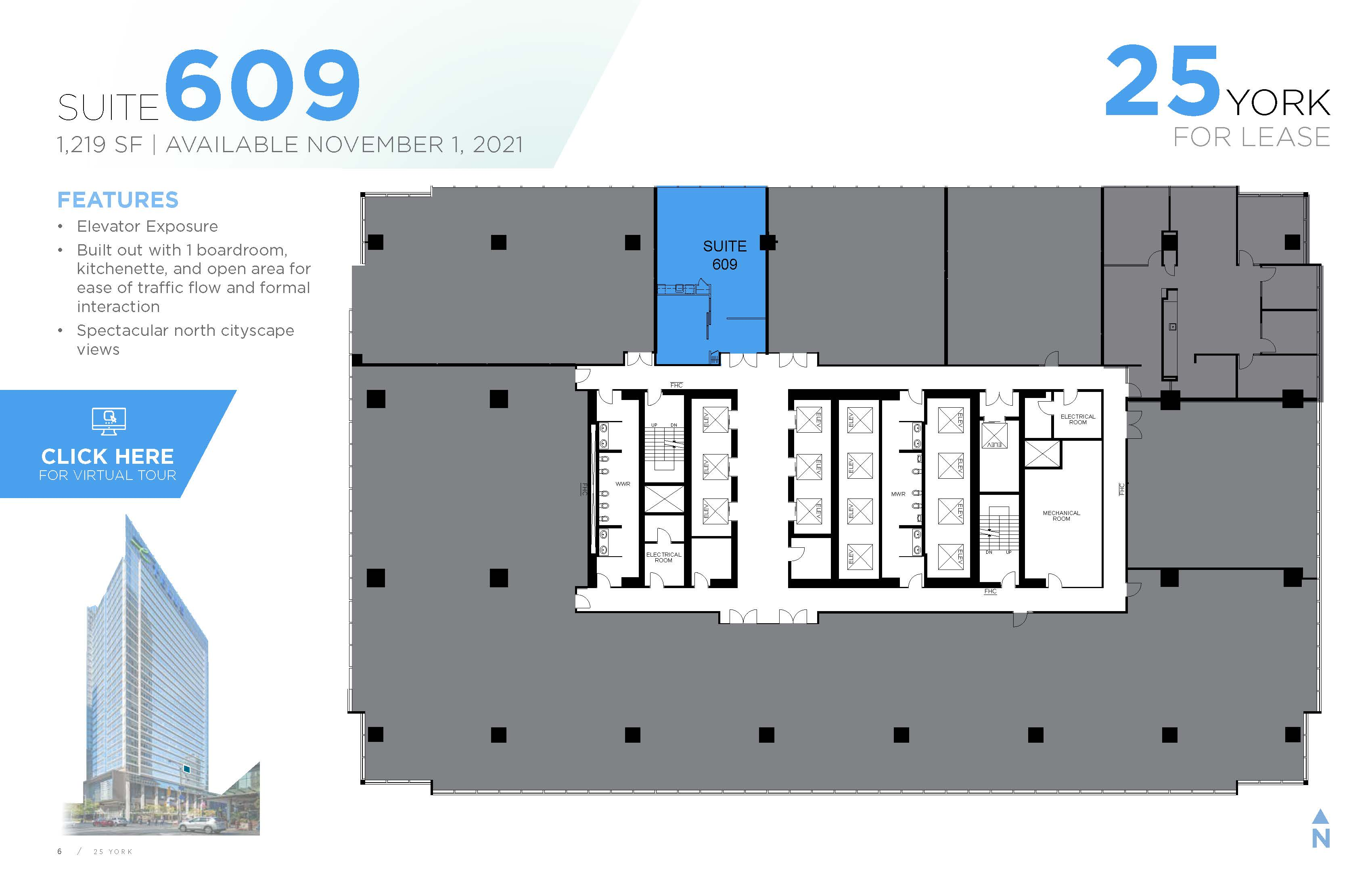 Floorplan thumbnail of Suite 609