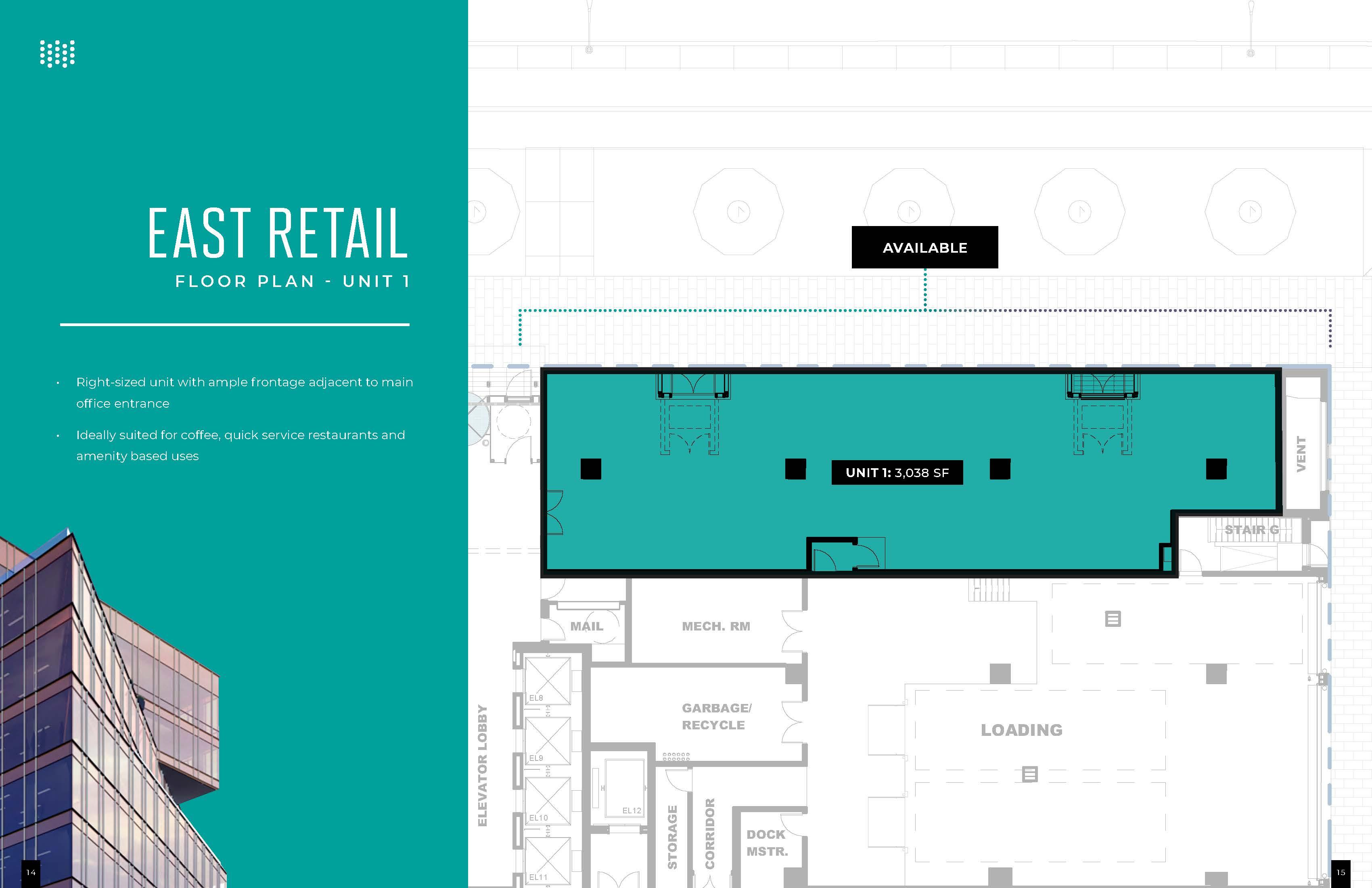 Floorplan thumbnail of East Retail Unit 1
