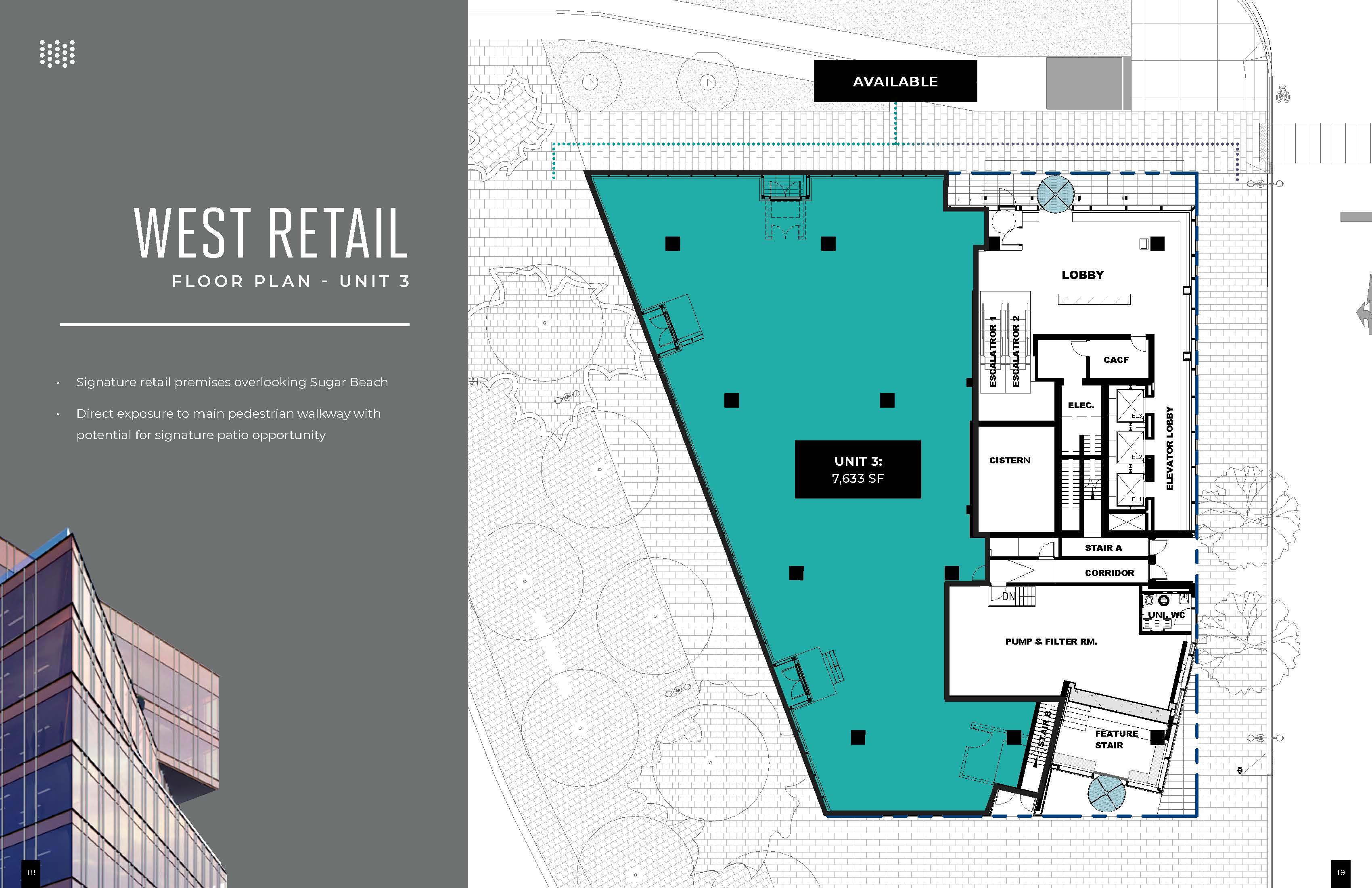Floorplan thumbnail of West Retail Unit 3
