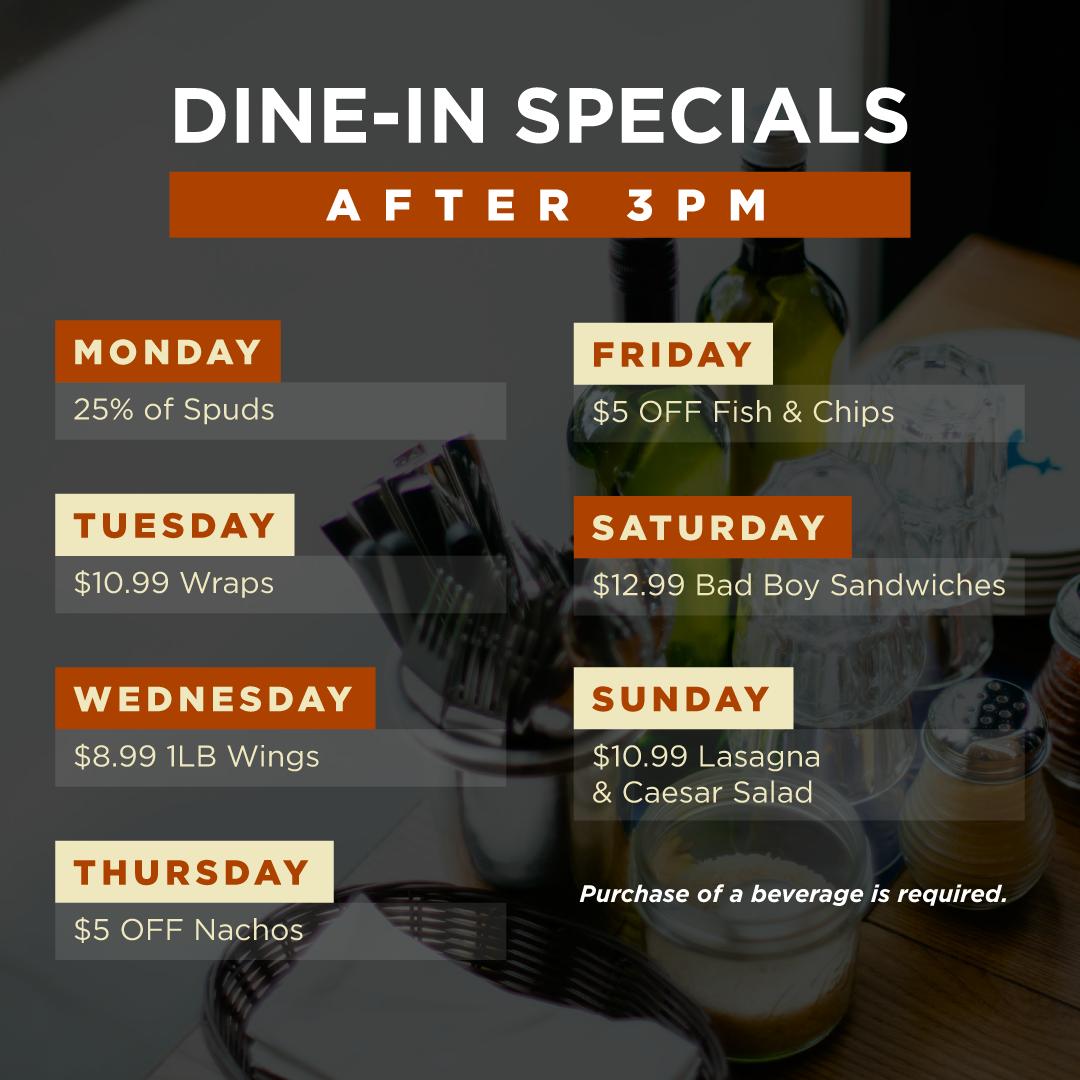 Dine-In Specials